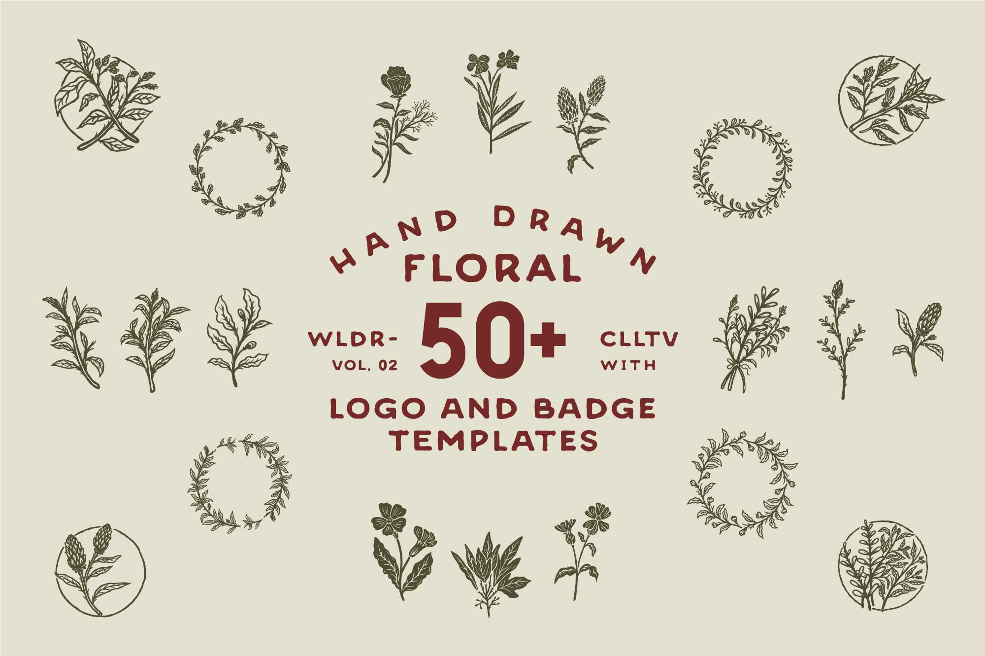 50+-Hand-Drawn-Floral-Logo-and-Badge-Templates-Vol.02-Preview-01