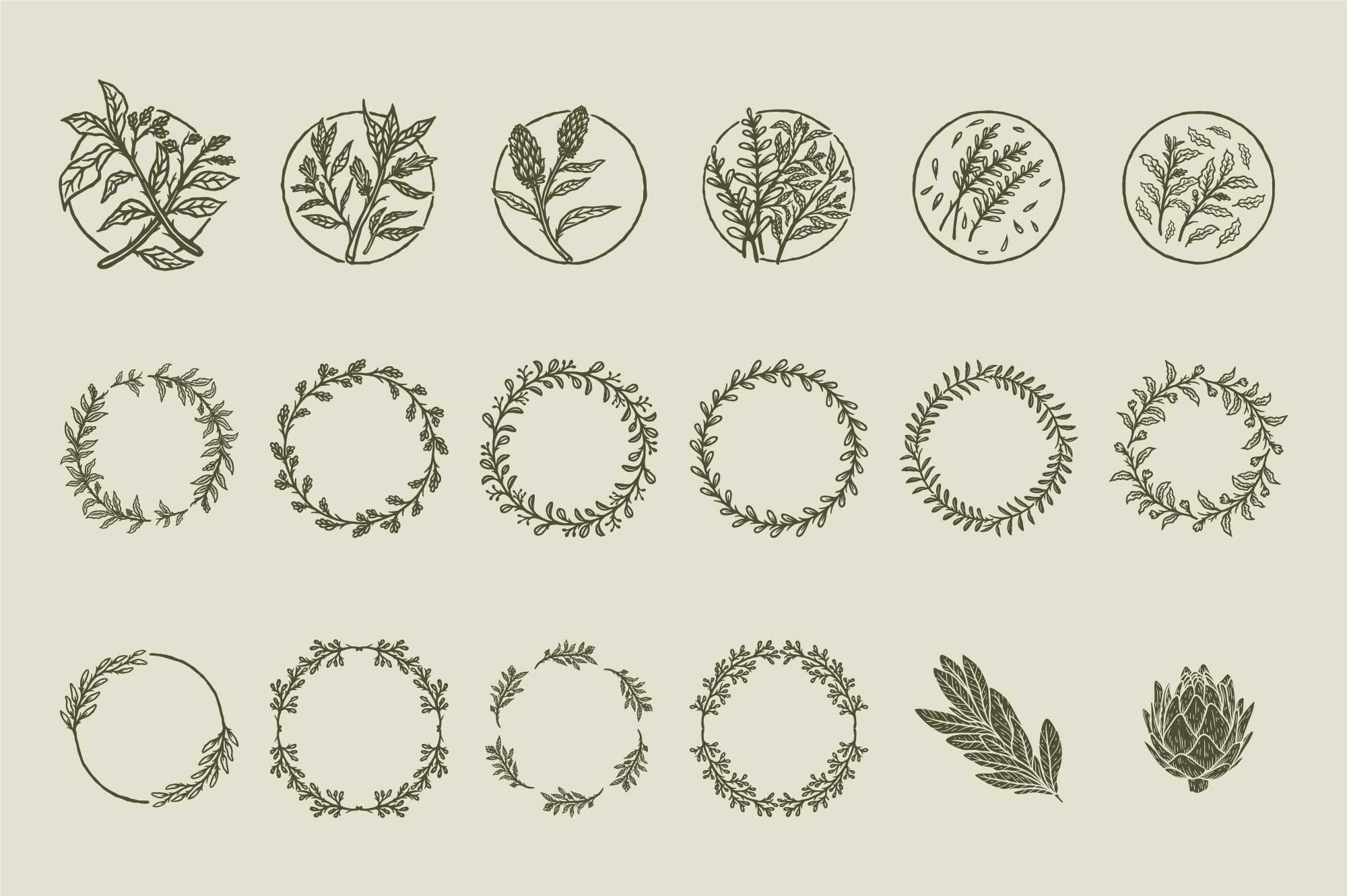 50+-Hand-Drawn-Floral-Logo-and-Badge-Templates-Vol.02-Preview-03