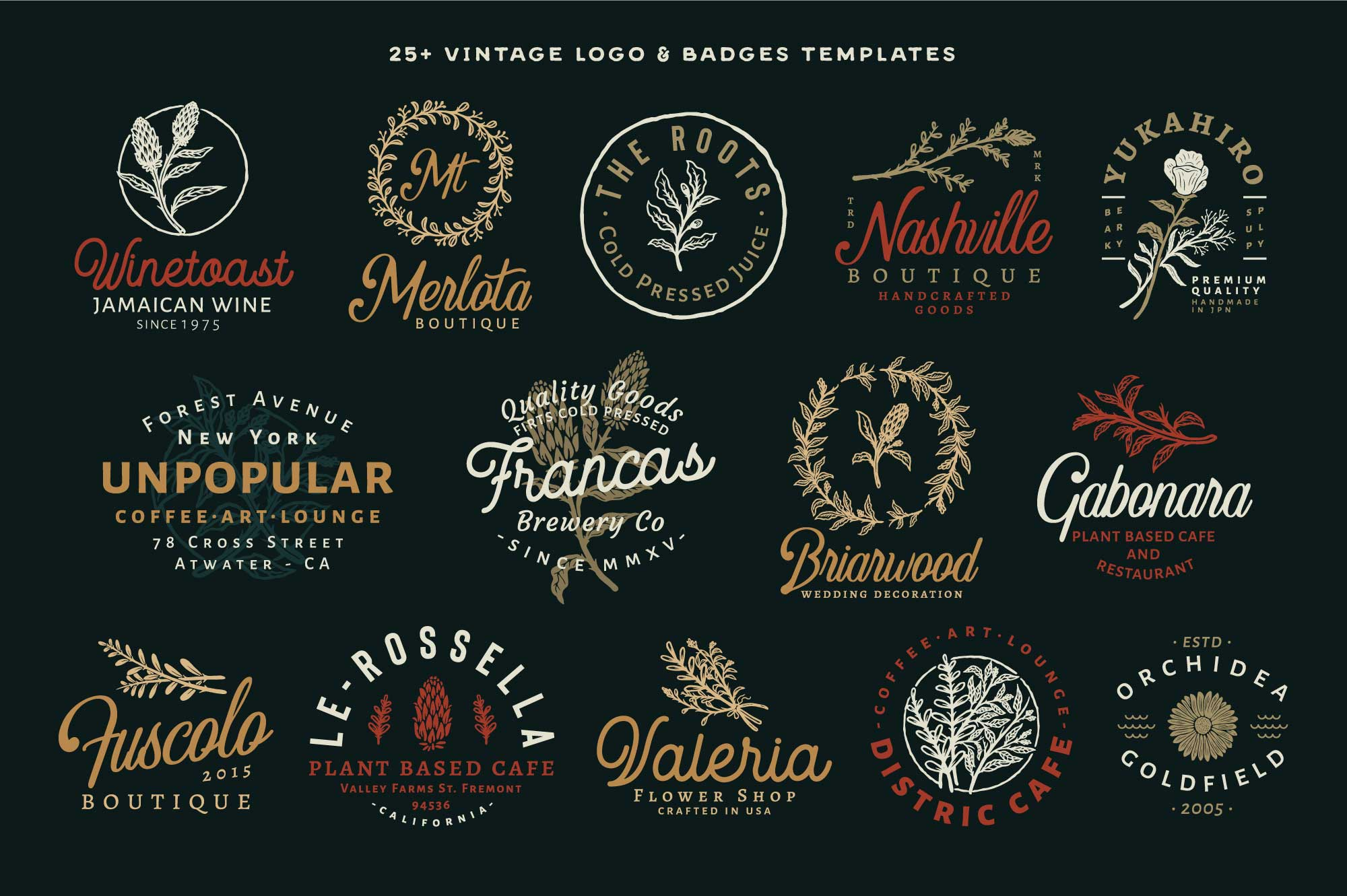 50+-Hand-Drawn-Floral-Logo-and-Badge-Templates-Vol.02-Preview-04